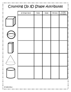 3d shape worksheets 1st grade