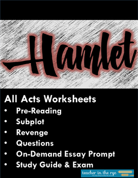 good essay prompts for hamlet Hamlet essay prompts develop a thesis that specifically, thoroughly, and competently answers the prompt (while relating it to the meaning of the.