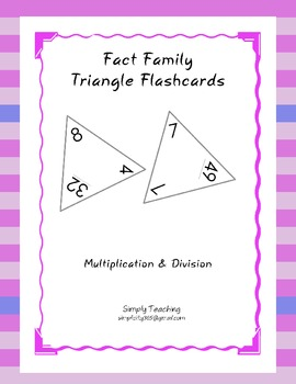 Free printable multiplicationdivision fact family worksheets