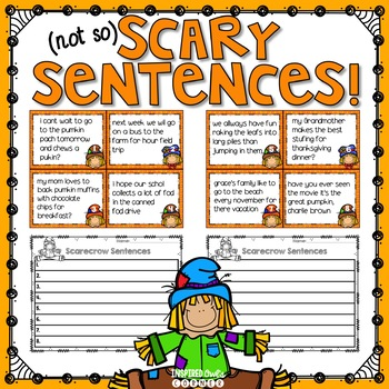 Fall Themed Sentence Editing Task Cards