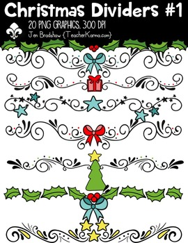 Christmas Dividers Clipart ~ Commercial Use OK ~ Buntings