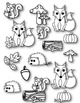 Fox & Friends Autumn Clipart ~ Commercial Use OK