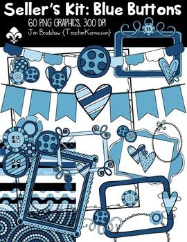 Seller's Kit BLUE BUTTONS~ Commercial Use OK