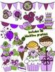 Purple Party Clipart BUNDLE & Seller's Kit