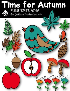 Time for Autumn Clipart ~ Commercial Use OK - Fall
