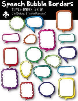 Speech Bubble Borders ~ Commercial Use OK