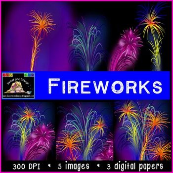 New Years Fireworks and Digital Papers {Sweet Line Design