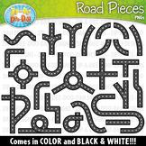 Road Pieces / Build Your Own Clipart Set — Includes 50 Graphics!