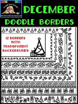 Christmas - Winter Doodle Borders {Sweet Line Design}