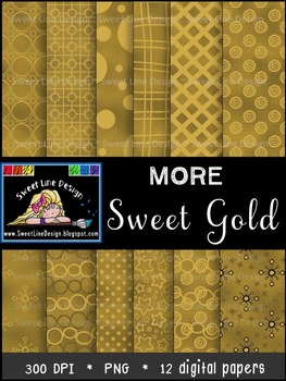 Gold Paper Pack 1 {Sweet Line Design Clipart}