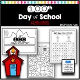 100th Day of School Activities Math, Writing - PreK-2nd In