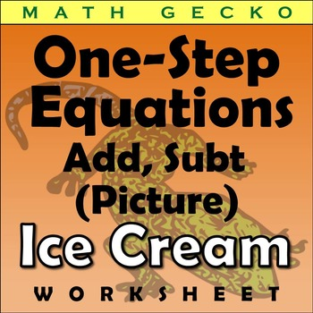 #110 - One-Step Equations Picture (Ice Cream Cone)