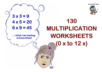 BUNDLE: (0x to 12 x) Twelve Multiplication / Times Tables