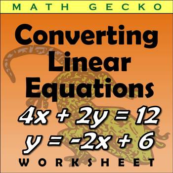 #150 - Converting Linear Equations, Standard and Slope-Int