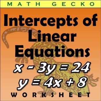 #155 - Intercepts of Linear Equations