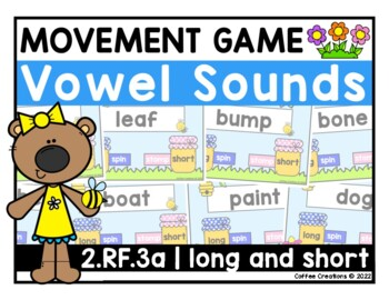 {2.RF.3a} Long and Short Vowels - Stand Up/Sit Down Game