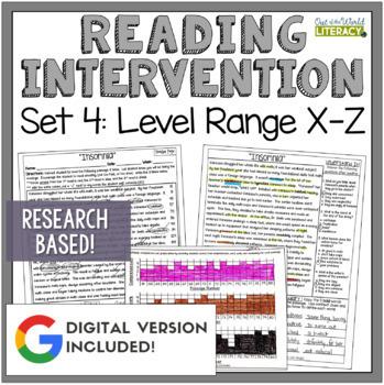 Reading Intervention Program: Set Four Level Range X-Z