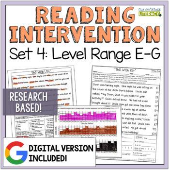 Reading Intervention Program: Set 4 Level Range E-G RESEAR