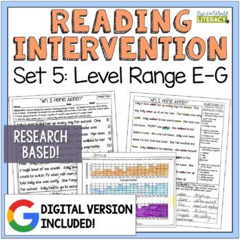 Reading Intervention Program: Set 5 Level Range E-G RESEAR