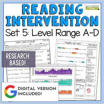 Reading Intervention Program: Set Five Level Range A-D RES