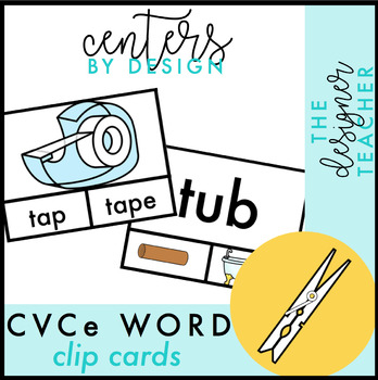 "CVCe ""Magic E"" Clip Cards"