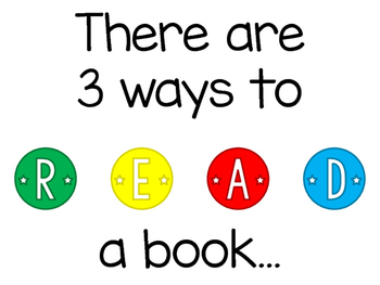 """3 Ways To Read a Book"" Poster Set"
