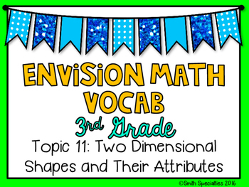 (3rd Grade) Envision Math Vocabulary Posters: Topic 11