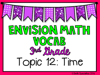 (3rd Grade) Envision Math Vocabulary Posters: Topic 12