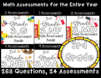 **3rd Grade Math CCSS Standard Based Assessments for Year!