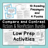 Compare and Contrast Activities - Poems, Reading Passages,