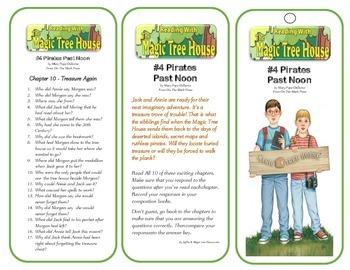# 4 Pirates Past Noon Comprehension Bookmarks - Magic Tree