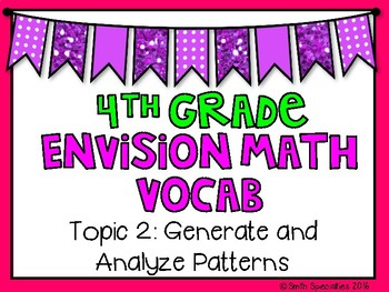 (4th Grade) Envision Math Vocabulary Posters: Topic 2