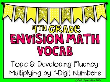(4th Grade) Envision Math Vocabulary Posters: Topic 6