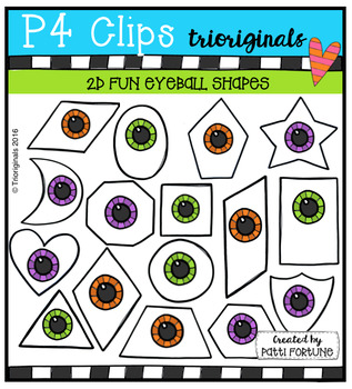 2D FUN Eyeball Shapes  {P4 Clips Trioriginals Digital Clip Art}