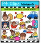 4 Letter Beginning Digraph Words {P4 Clips Trioriginals}