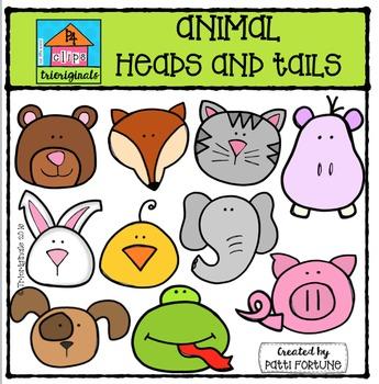 Animal Heads n Tails {P4 Clips Trioriginals Digital Clip Art}