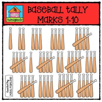 Baseball Tally Marks {P4 Clips Trioriginals Digital Clip Art}