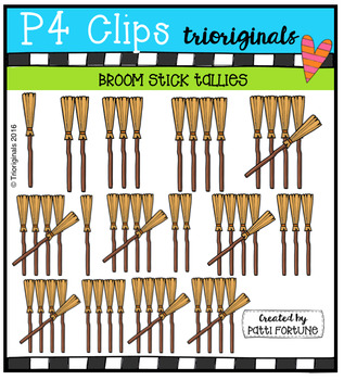 Broom Stick Tallies  {P4 Clips Trioriginals Digital Clip Art}
