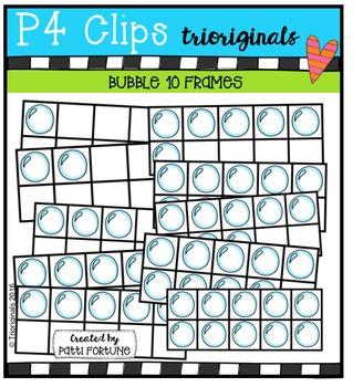 Bubble 10 FRAMES {P4 Clips Trioriginals Digital Clip Art}