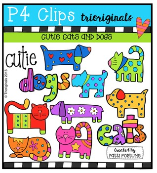 Cutie Cats and Dogs  {P4 Clips Trioriginals Digital Clip Art}