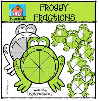 Froggy Fractions {P4 Clips Trioriginals Digital Clip Art}