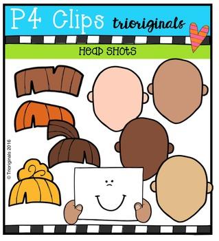 Head Shots {P4 Clips Trioriginals Digital Clip Art}