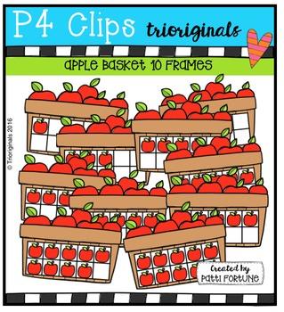P4 10 FRAMES Apple Basket {P4 Clips Trioriginals Digital C
