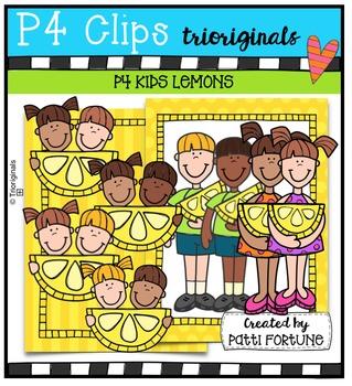 P4 KIDS Lemons {P4 Clips Trioriginals Digital Clip Art}