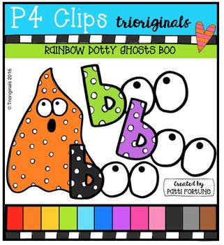 P4 RAINBOW Dotty Ghosts BOO {P4 Clips Trioriginals Digital