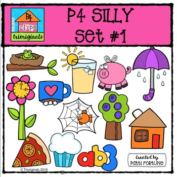 P4 Silly Set #1 {P4 Clips Trioriginals Digital Clip Art}