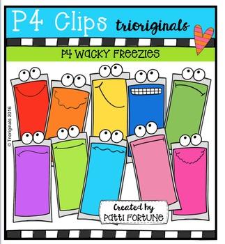 P4 WACKY Freezies  {P4 Clips Trioriginals Digital Clip Art}