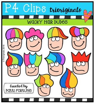 (50% 0FF)  P4 WACKY Hair Dudes  {P4 Clips Trioriginals Dig