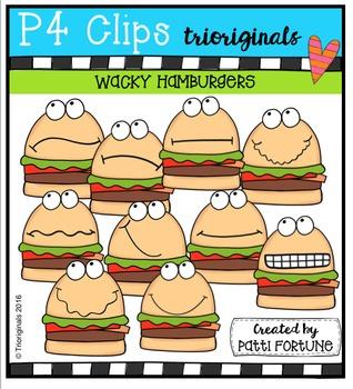 P4 WACKY Hamburger Buddies  {P4 Clips Trioriginals Digital
