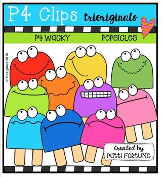 P4 WACKY Popsicles  {P4 Clips Trioriginals Digital Clip Art}